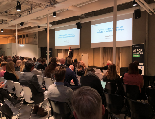 "Föredrag på ""AI for marketing summit"" i Stockholm"